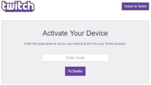 activate Twitch account