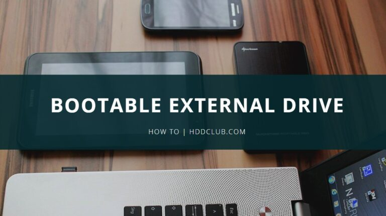 how to make external hard drive bootable