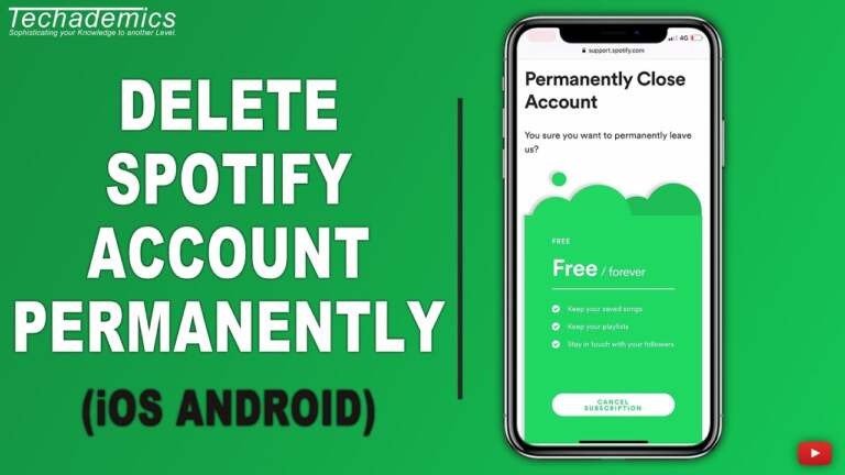 Delete Spotify Account Permanently on Android